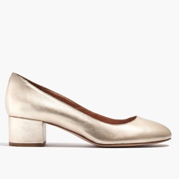 Madewell Shoes - Madewell Ella Pump in Soft Gold Leather
